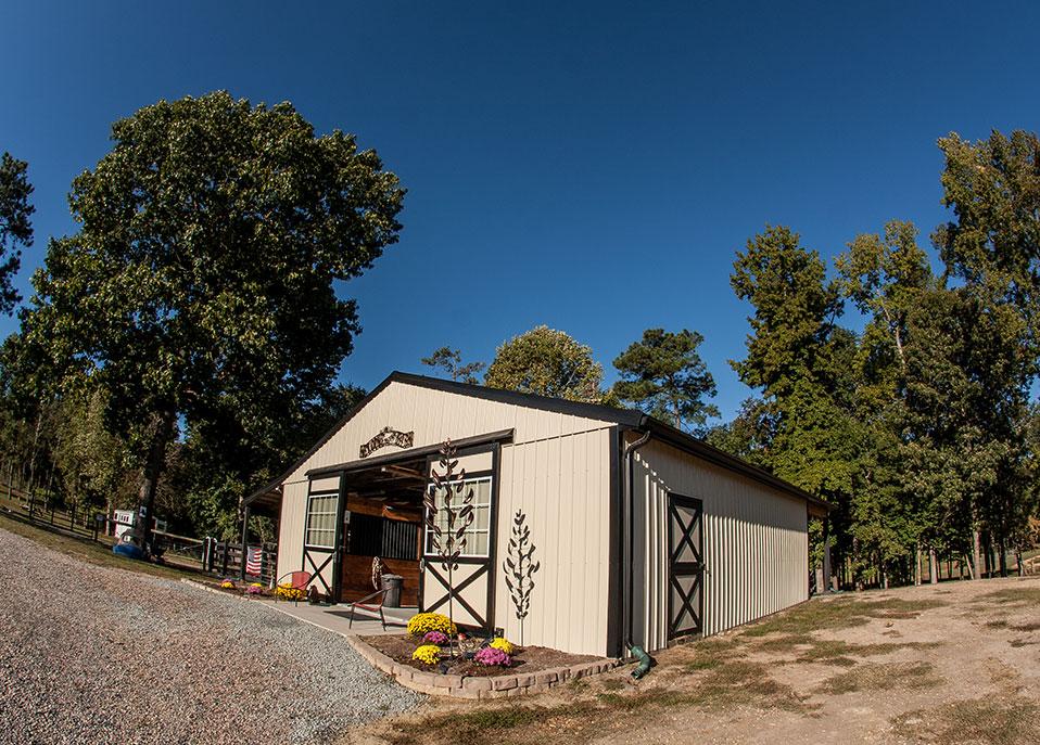 custom private horse barns